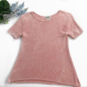 Clio Vintage pink knit sweater